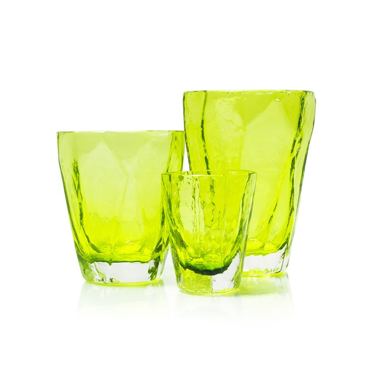 Lime Soft Rock Glasses