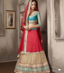 Buy Ravishing Maroon Embroidered Lehenga Choli lehenga-choli online