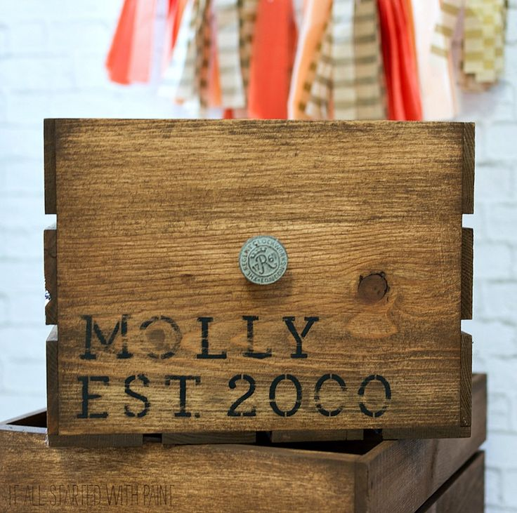 25 unique unfinished wood crates ideas on pinterest for Vintage crates cheap
