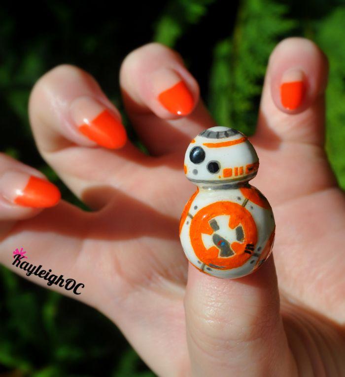 Star Wars BB-8 Nail Art by KayleighOC