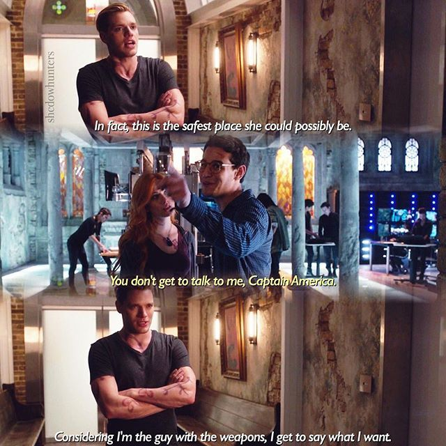"#Shadowhunters 1x04 ""Raising Hell"" - Jace, Clary and Simon"