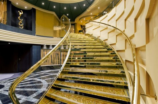 #MSCYachtClub's amazing #Swarovski crystal #staircase