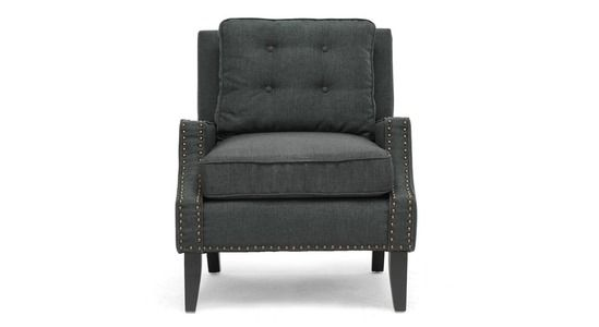 Glassgow Lounge Chair - Mid century with modern angles and traditional linen merge into a single statement