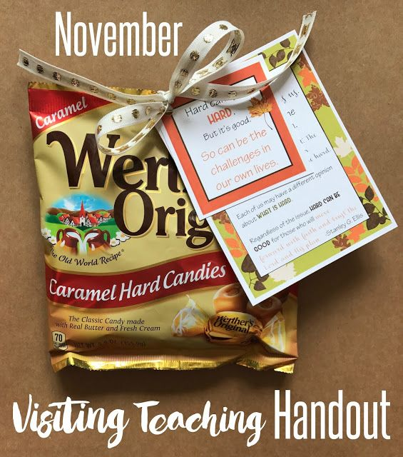 Marci Coombs: November 2017 Visiting Teaching Handouts.