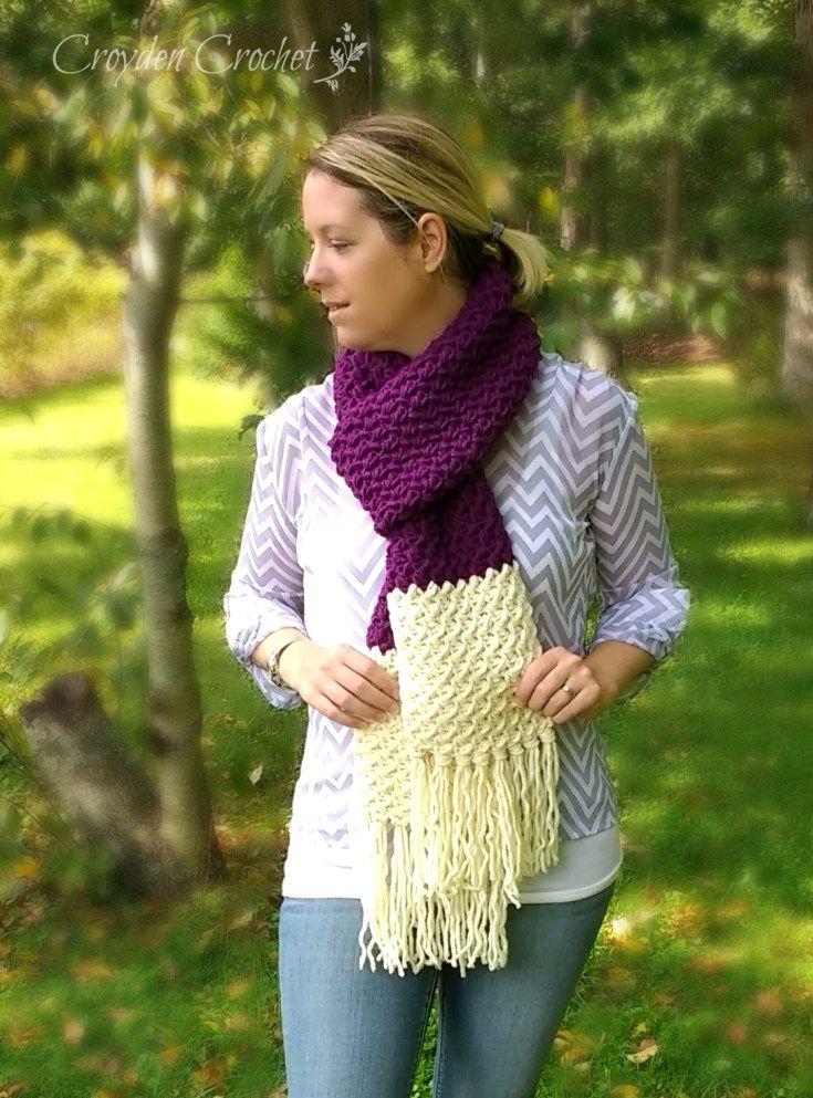 253 mejores imágenes de crochet scarves (road trip) en Pinterest ...