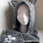 Cuddly Cat Crochet Scoodie with Pockets