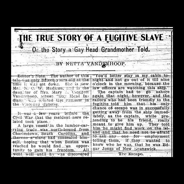 History of Blacks on Martha's Vineyard