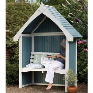 Forest Garden Limoge Wooden Arbour Seat - same one, from other site, costs £356.99 unpainted