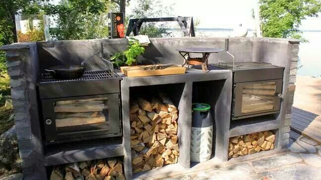 Outside kitchen. This would be great outside of a Off The Grid Tiny house!