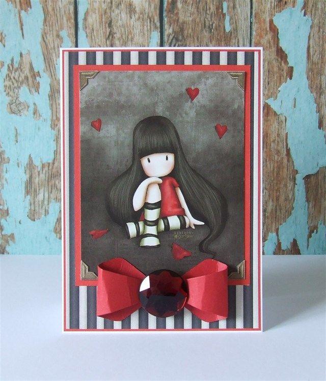 Handmade Santoros' gorjuss card