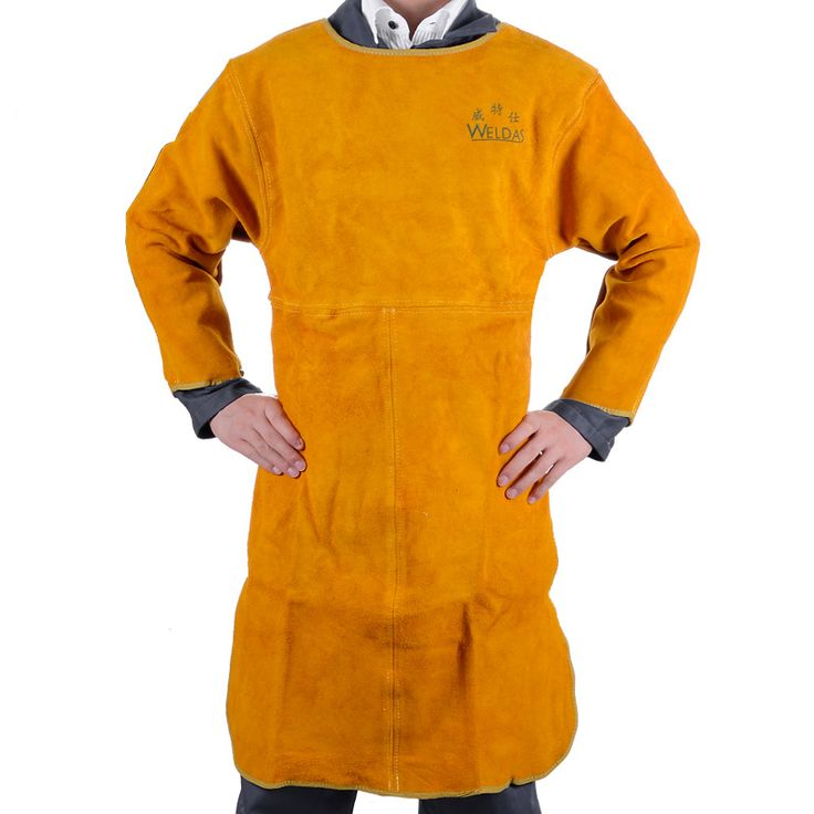 leather welder aprons welder's aprons long-sleeve barmskin aprons split cow leather welding aprons