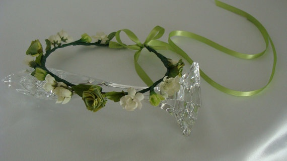 Bridal Wedding Flower Head Wreath by SusanCarolBridal on Etsy, $29.00