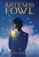 """""""Artemis Fowl"""" by Eoin Colfer. """"Twelve-year-old Artemis Fowl is a brilliant criminal mastermind, but even he does not know what he has taken on when he kidnaps fairy Captain Holly Short of the LEPrecon Unit. These fairies are armed and they are dangerous. Book #1 When a twelve-year-old evil genius tries to restore his family fortune by capturing a fairy and demanding a ransom in gold, the fairies fight back with magic, technology, and a particularly nasty troll."""" Level Y."""