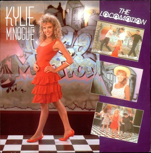 """For Sale - Kylie Minogue The Locomotion - p/s UK  12"""" vinyl single (12 inch record / Maxi-single) - See this and 250,000 other rare & vintage vinyl records, singles, LPs & CDs at http://eil.com"""