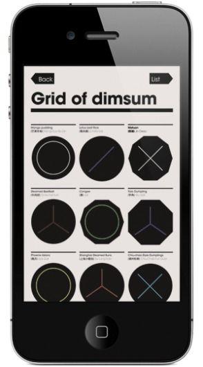 Grid of dim sum #mobile #ui #design