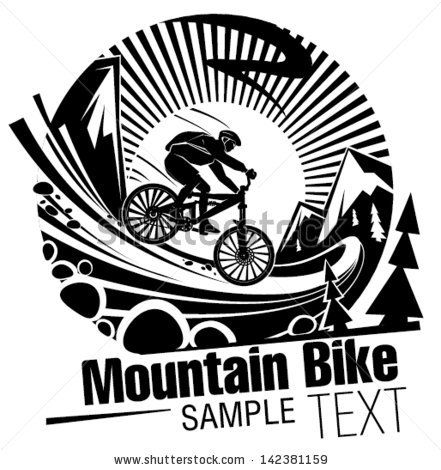 Riding a mountain bike - stock vector | logo ideas ...