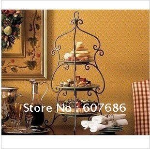3 Tier Iron Wedding Cake Stand, customize size, 30*55cm, Cake Holder Party display,Iron craft decor the wrought iron decorations-in Stands f...