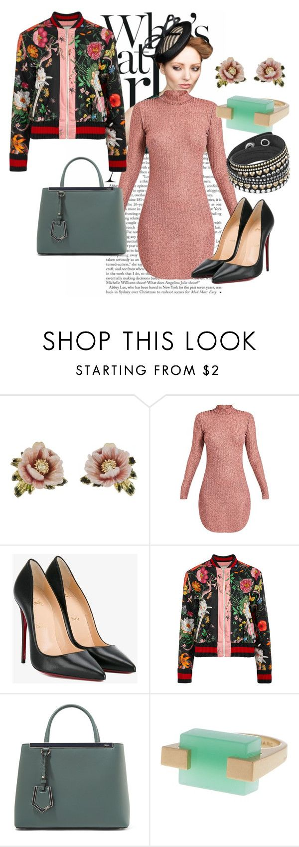 """""""Day to night"""" by katherineew ❤ liked on Polyvore featuring Rachel Trevor-Morgan, Les Néréides, Christian Louboutin, Gucci, Fendi and Marc by Marc Jacobs"""