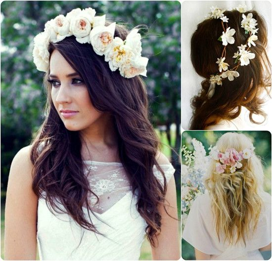 6 Ideas for Beautiful and Romantic Wedding Hairstyles with Flowers