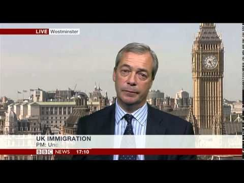 Nigel Farage Schooling the BBC Controllable Immigration & Taking A Break - YouTube