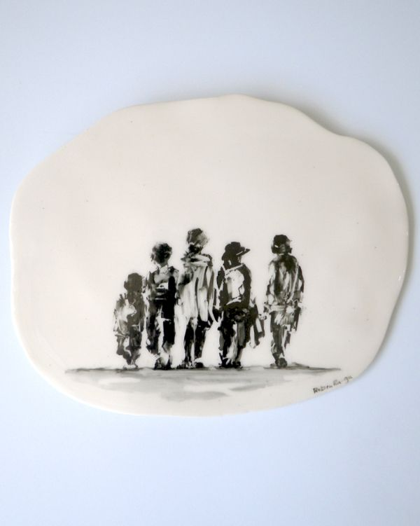 These New Zealand crafted ceramic wall plaques are hand painted, each one is unique.