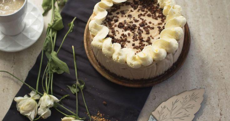 receta de tarta mousse crujiente de horchata sin horno food photography #cakes #stylelife