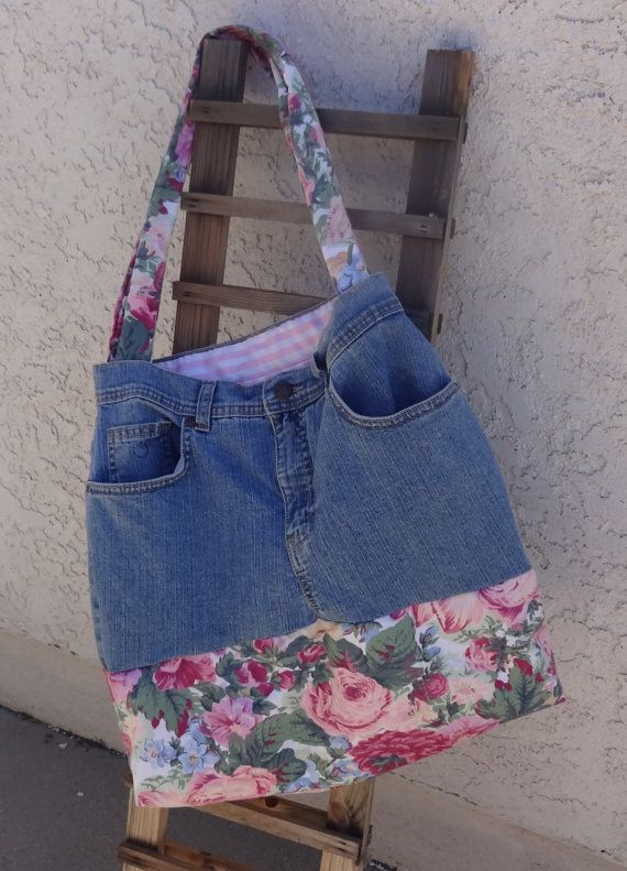 Recycled Denim Blue Jean purses