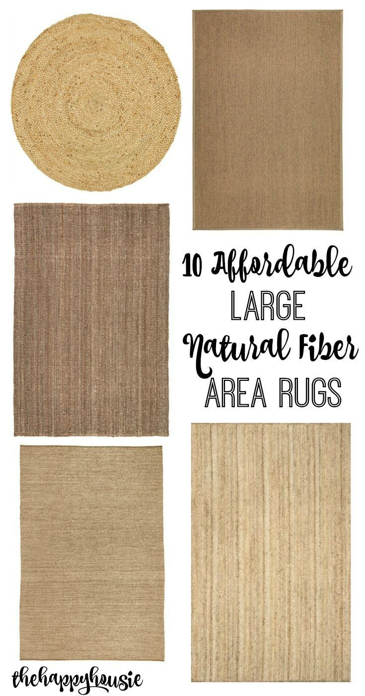 10 affordable large natural fiber area rugs at http://thehappyhousie.com