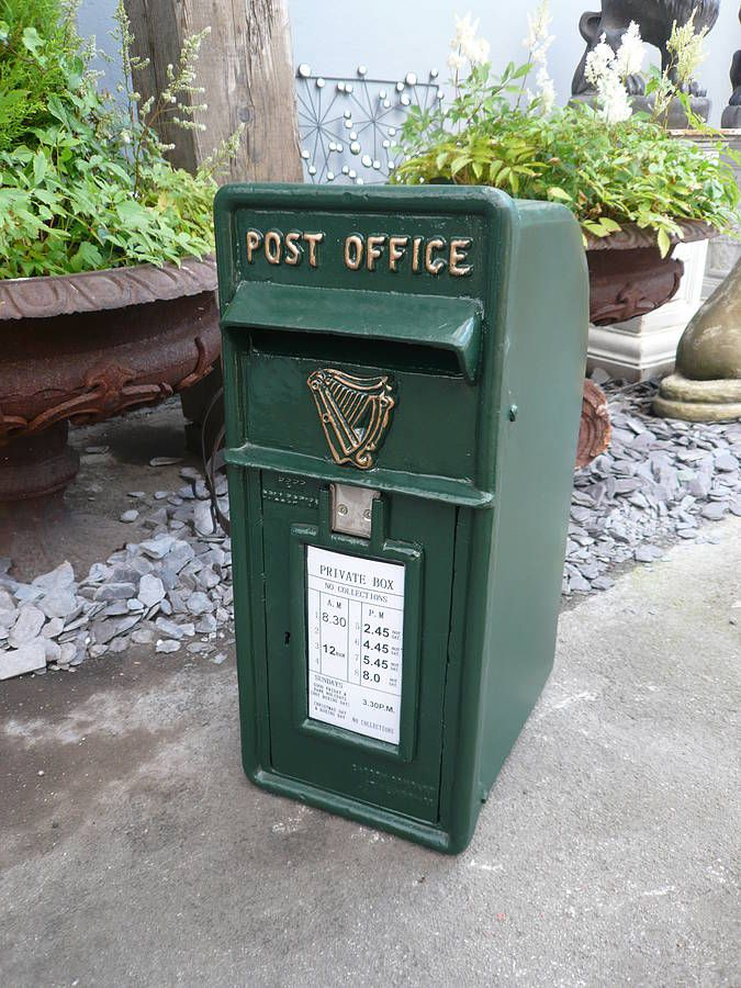 Vintage Style Green Post Box By Elizabeth And Stevens