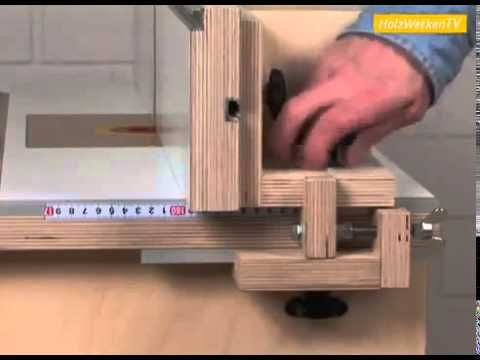Excellent YouTube video Home made router table fence in German