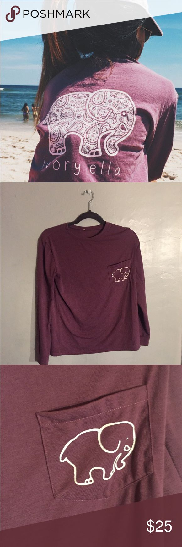Home clothing mens clothing dragon furnace longsleeve t - Ivory Ella Long Sleeve Purple Ivory Ella Long Sleeve Worn Once Or Twice No