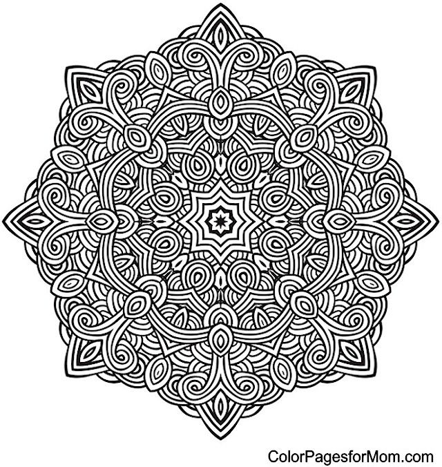 """Mandala Coloring Page 10 