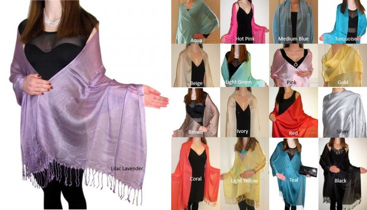 Silk shawls product # 3038  at Yours Elegantly women love silk shawls in many spring summer colors on sale.