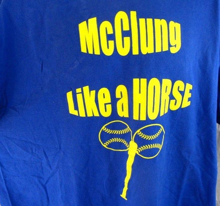 Seth McClung Like a Horse XXL T-Shirt Milwaukee Brewers Pitcher 2X Tee 2XL Vtg #Hanes #GraphicTee
