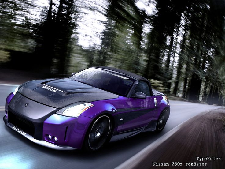 Ahh! I love purple on Nissan 350z's!!