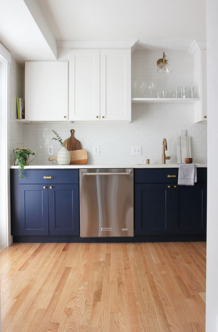 9 Navy Blue Paint Options for Kitchen Cabinets   Cheap kitchen ...