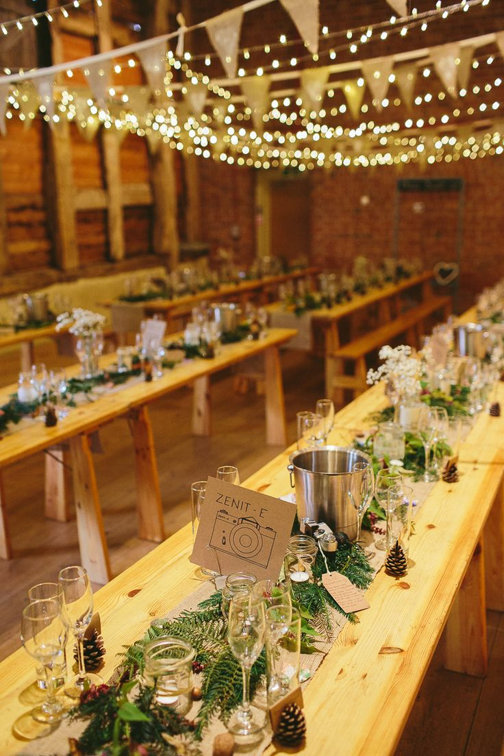 Barn Fairy Lights Natural Rustic Hand Crafted Autumn Wedding http://www.epiclovephotography.com/