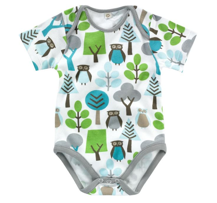 DwellStudio Owls Sky Short Sleeve Bodysuit Uni Baby