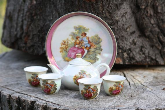Chinese Porcelain Coffee Set In Gift Box Tea Set by Diamir on Etsy