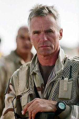 Richard Dean Anderson as Colonel Jack O'Neill from Stargate SG1 - I think I have a crush on him, but I'm not sure.......
