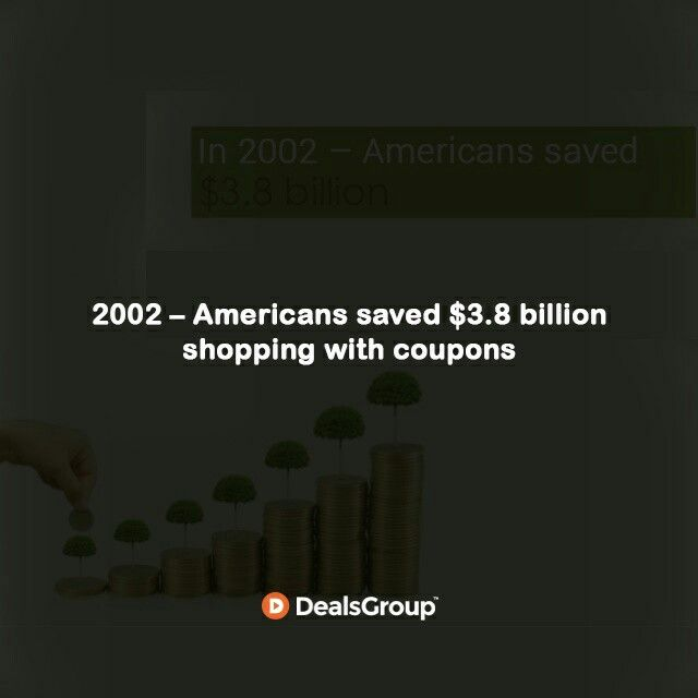 2002 – Americans saved $3.8 billion shopping with #Coupons #HistoryofCoupons
