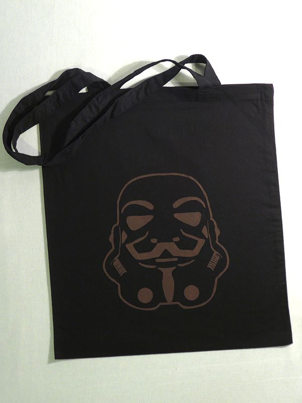Anonymous Trooper Cotton Tote via Tribe of E. Click on the image to see more!