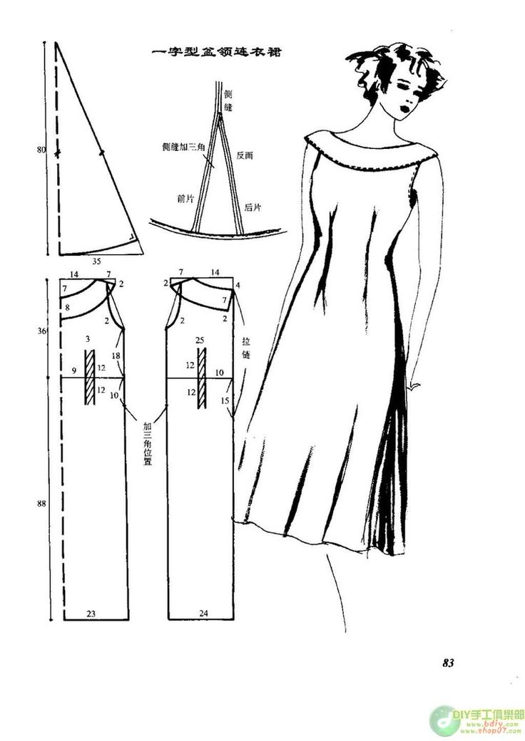 Schnittmuster Kleid - Dress Pattern - Vintage