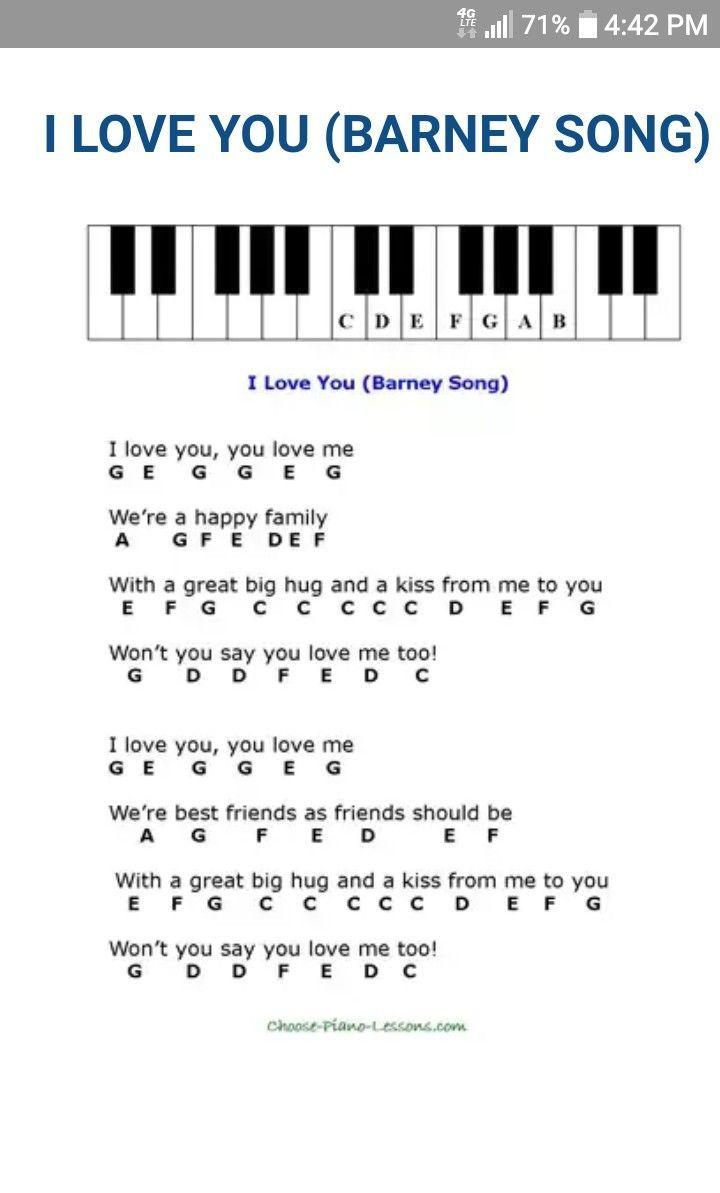 I Love You Nursery Rhymes Piano Sheet Music Pianomusic Piano