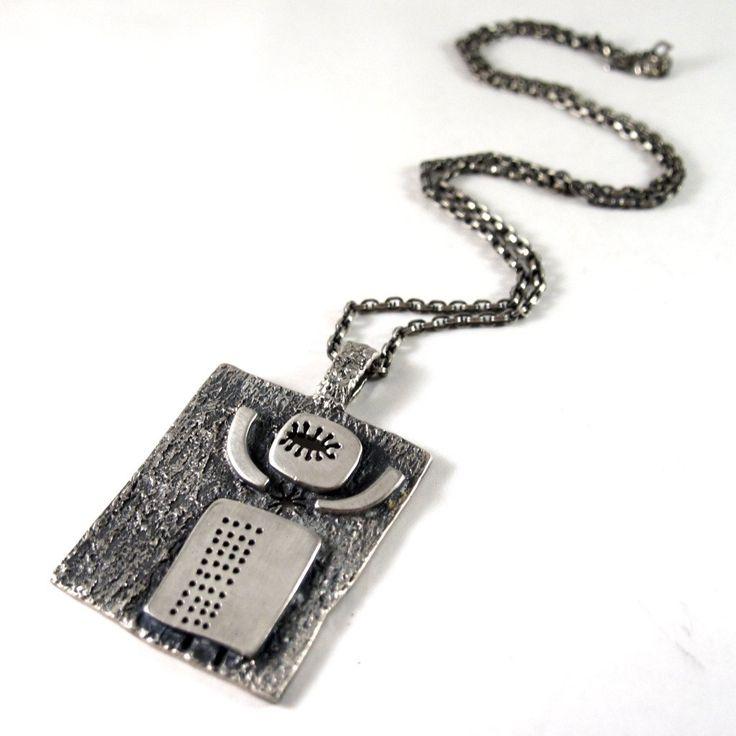 Rare Guy Vidal Spaceman Necklace - Cosmic Modernist