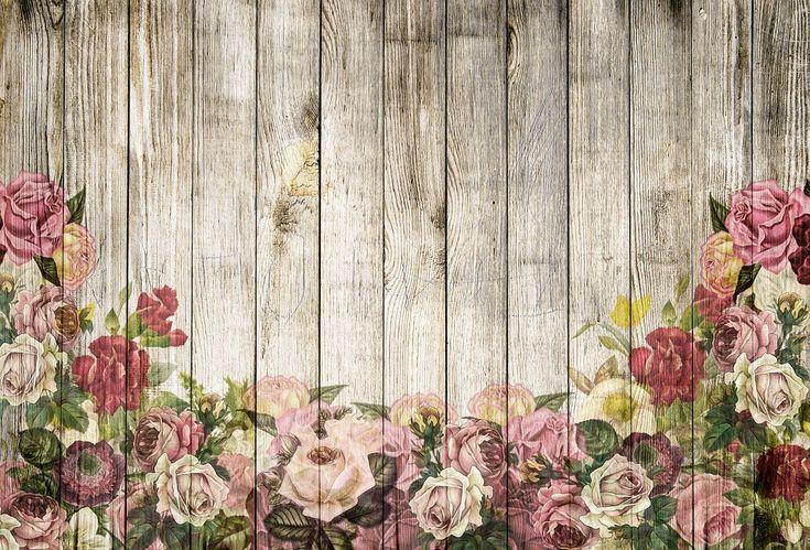 Деревянные Стены, Розы, Справочная Информация, Винтаж
