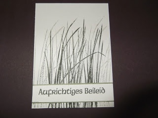 "Trauerkarte mit dem Stampin up Set "" Inspired by Nature """