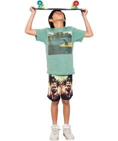 Munster Kids Trendy Surfer's Short in Hawaï Stijl #emilea