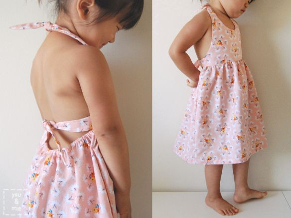 Fluttering Fields Sundress Tutorial // you & mie, Fabric is  designed by @Rae Hoekstra for Cloud 9 Fabrics.  Delish!