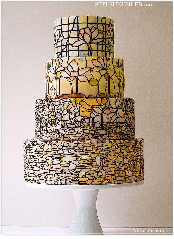 Stained glass cakeMosaics Cake, Cake Ideas, Cake 1121442, Glasses Cake, Eating Cake, Austin Cake, Decor Cake, Wedding Cake, Stained Glasses